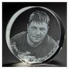 3D лазерная гравировка в стекле. Диски