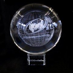 3D лазерная гравировка в стекле. Шары