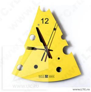 Часы Сыр из пластика