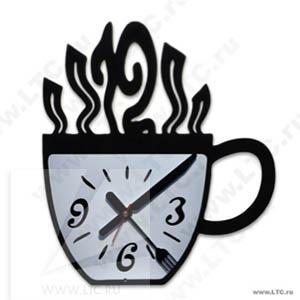 Часы настенные Чашка с аппликацией