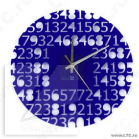 Часы из акрила с лазерной резкой