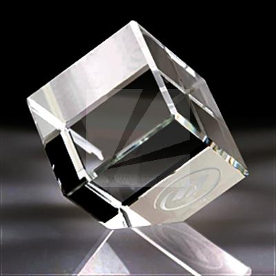 3D лазерная гравировка в стекле. Кубы