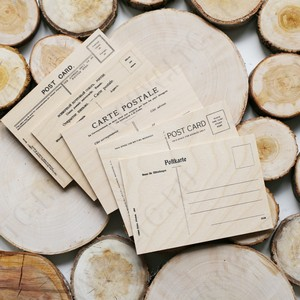 Открытки деревянные с гравировкой или печатью