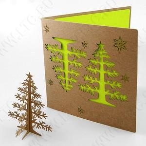 Резные открытки из крафта или дерева